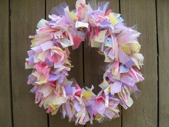 newborn baby girl wreath baby door wreath baby shower wreath