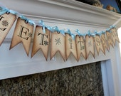 Vintage Inspired Banner - Let it Snow