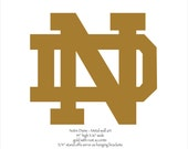 """ND emblem metal wall art - 16"""" wide - Gold with rust accents"""