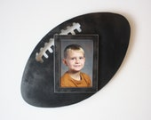 Football picture frame - 5x7 metal wall art frame - 3D photo frame - black and steel picture frame - football picture frame - photo frame
