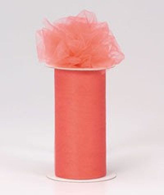 54 inch x 50 yard bolt of Nylon Tulle -- CORAL