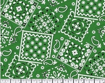 Kelly Green Bandana - Cotton