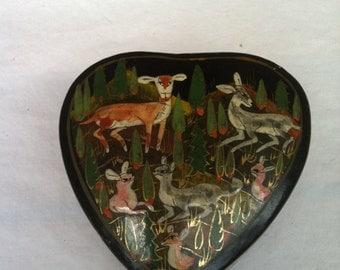 Vintage Heart Trinket Box