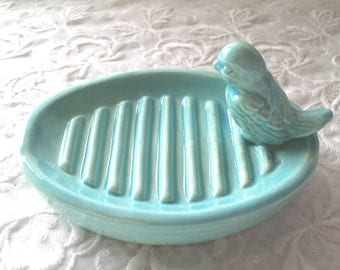 Bird Soap Dish Gift Mothers' Day  Teacher Gift Housewarming Vintage Design with a Bird Available in you favorite color too