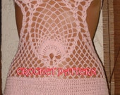 Crochet Super Model Monokini Crochet Pattern  Only,This is project not for  the beginning Level in crochet.in Pdf file
