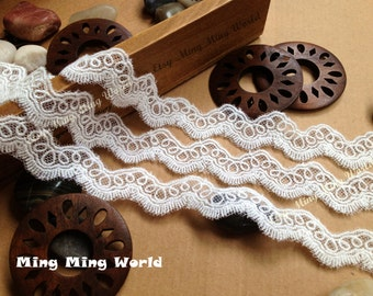 Cotton Lace,Net Lace Trim,Ivory Lace ,Dentelle Embroidered Lacefor Costume Desige,headband 0.82 inches 3 yards(L85)