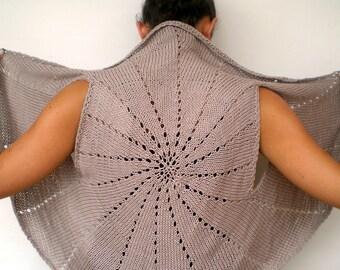 Sun Ring Fashion Shrug   Cotton Vest Woman Hand Knit Circle shrug NEW