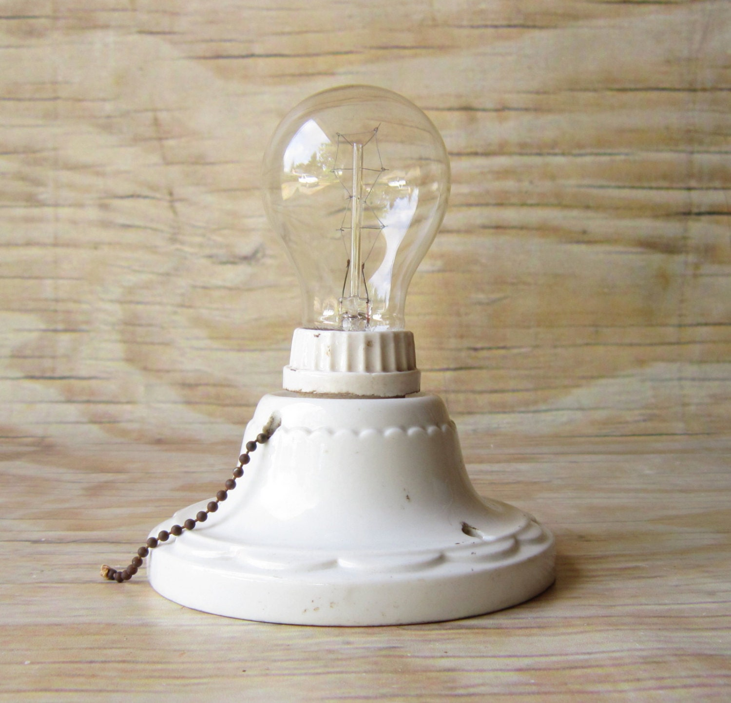 Vintage porcelain light fixture bath and by for Old bathroom light fixtures