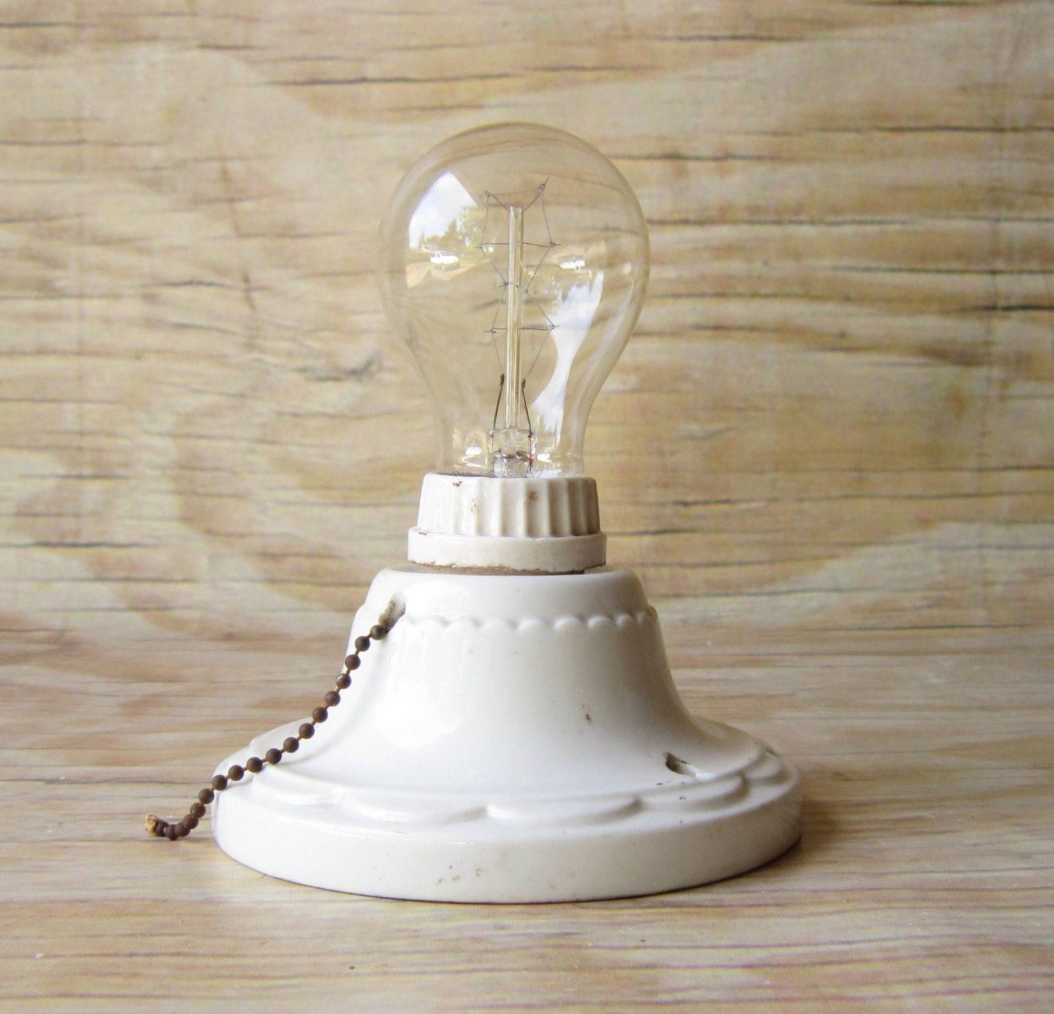 Vintage porcelain light fixture bath and by for Vintage bathroom lighting fixtures