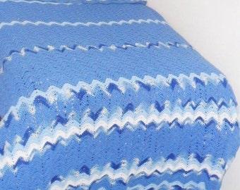 Gorgeous Blue Afghan