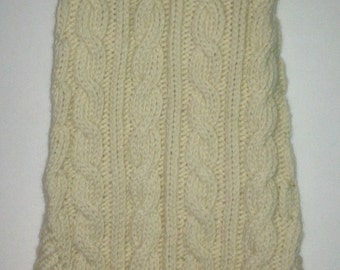 Classic Aran Knit Dog Sweater in Cream Quiltsy Handmade