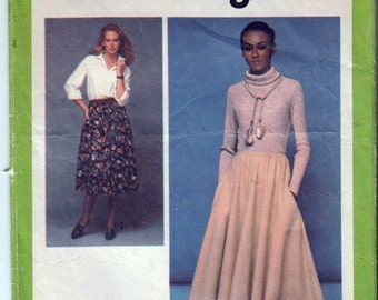 "JIFFY Pattern SKIRT Sewing Pattern 70s Elasticized Waistline Pockets Size Sm 10-12 Waist 25-26.5"" (64-67 cm) Simplicity 8699 - S"