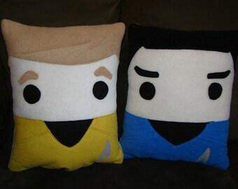 Star Trek pillow, Spock, Kirk, Khan