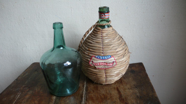 french vintage demi john dame jeanne wine bottle vintage. Black Bedroom Furniture Sets. Home Design Ideas