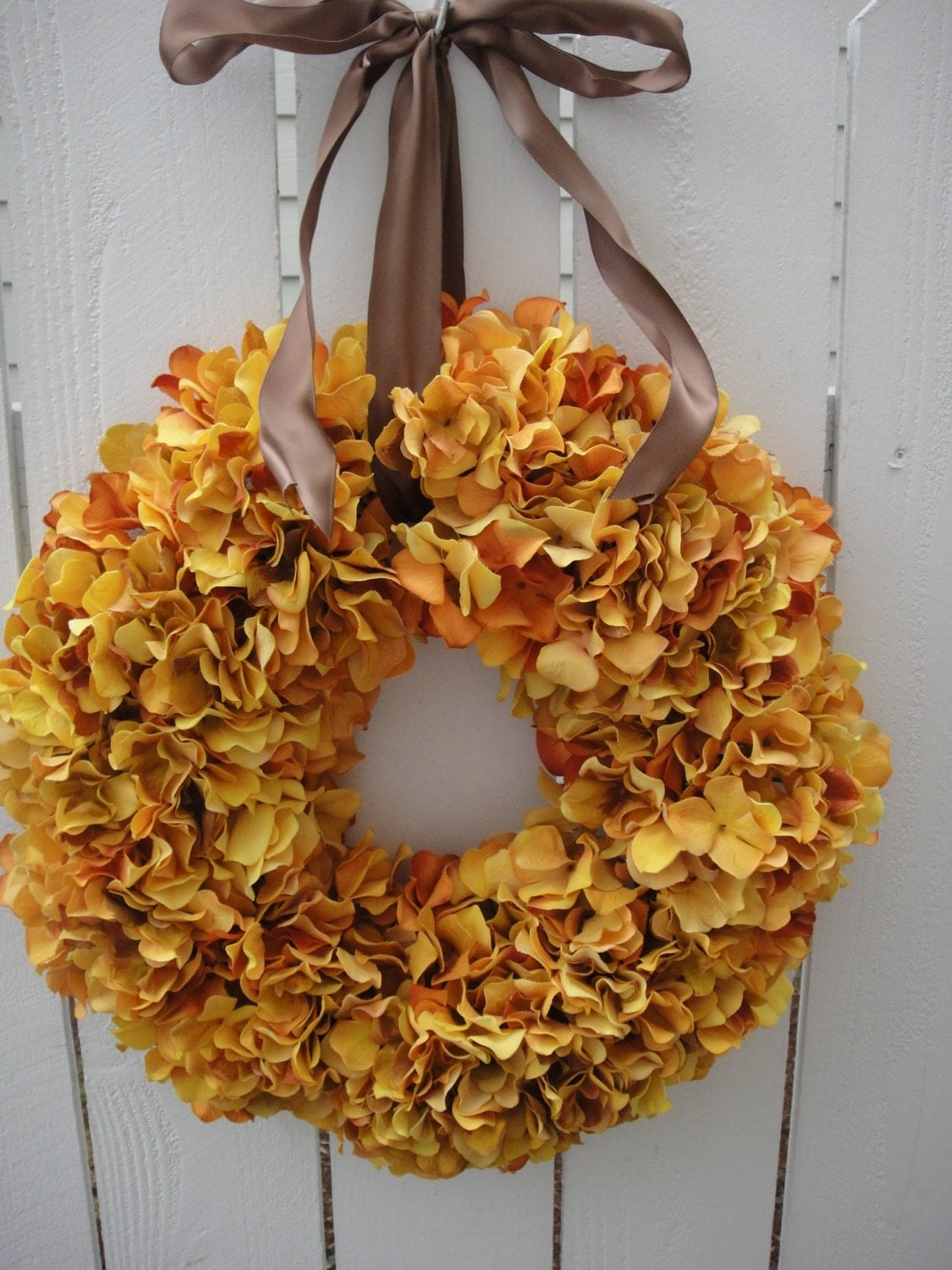 Hydrangea Wreath Fall Wreath Now On Sale Golden Hydrangea