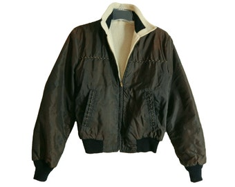 1950s - early 1960s Mens Jacket ReversibleTwo Tone Color Scheme.