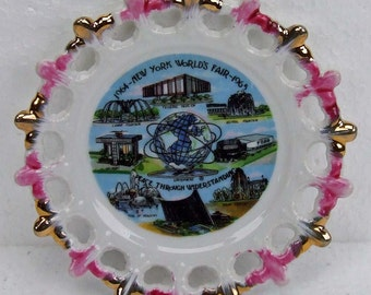New York World's Fair 1964 1965 Commemorative Plate An Ornate Decorative Souvenir Plate