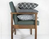 Black and White Decorative pillow, Botanical Pillow Cover, Modern Home Decor, Neutral  |  Fleur de Lis, Lily Pillow Case in 16 x 16 - ClassicByNature