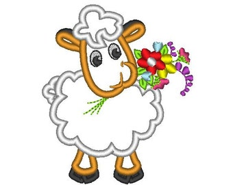 Cute Sheep - machine embroidery applique designs - multiple sizes for hoop 4x4 and 5x7