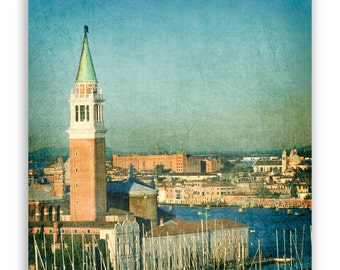 "Venice Photography, teal Italy photos, turquoise canals of Venice, Venice decor, architecture photo - ""La Torre"" - Fine Art Photograph"