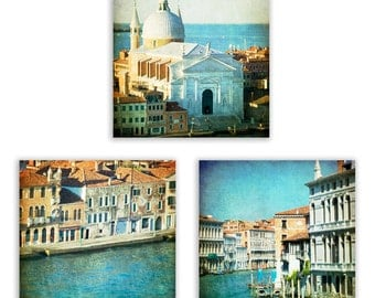 Captivating Venice Print Set, Teal Wall Art, Turquoise Home Decor, Venice Wall Art, Part 23