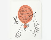 Happy Birthday Balloon Card 1pc
