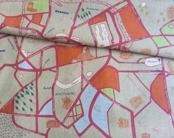 SALE - Japanese Fabric Cotton Yuwa - German Street - a yard