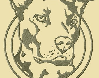 Instant Download American Pit Bull Terrier embroidery design - Machine Embroidery Design - Digital Design File