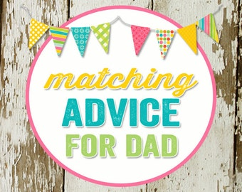 ADVICE CARD for dad-to-be to match any invitation for baby shower or bridal shower, digital, DIY printable file