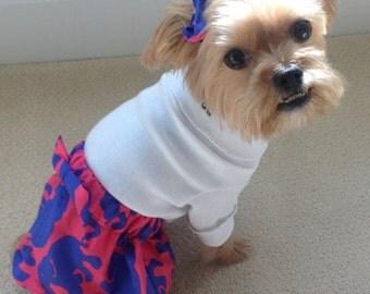 Dog Skirt, Small Dog Skirt, Dog Clothes, Elephant Skirt, Puppy Skirt, Puppy Dress, Dog Dress, Clothes, Pet