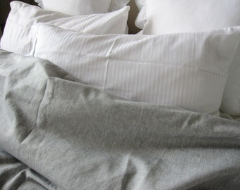 Solid gray grey linen QUEEN KING duvet cover  - men's bedding light gray grey Nurdanceyiz - beige oatmeal brown linen custom bedding
