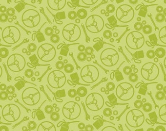 Auto Green Tonal Scatter from the Henley Studio Collection by Makower UK