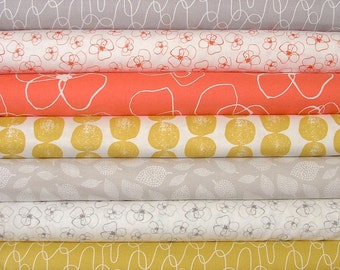 MorMor Fat Quarter Bundle of 7 by Lotta Jansdotter for Windham Fabrics