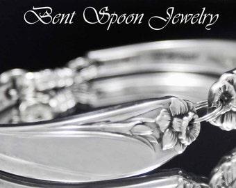 Spoon Bracelet, Spoon Jewelry, DAFFODIL 1950, Silverware Bracelet, Spoon Bracelet
