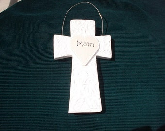 Personalized Wood Christmas Ornament - Cross