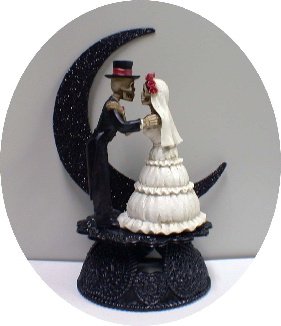 Day of the DEAD Halloween Wedding Cake Topper Funny Skeleton
