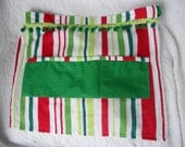 Christmas Half Apron - Jolly Elf Apron - Vendor Apron - One size fits most - Jingle Bell Apron - Ready to Ship