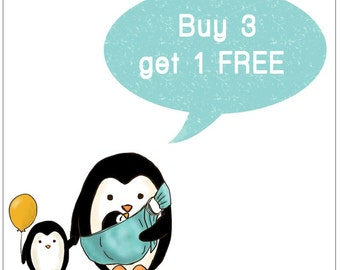 PROMOTION Buy 3, get 1 for FREE. Children's Wall Art Print