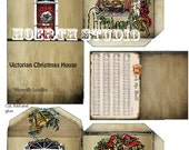 Christmas village Victorian House paper model DIYInstant download