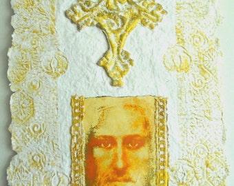 Christian Art Gift, Baptism Gift, Christian Home Decor, Religious Art Work, Religious Decor, Wall Art Decor, Christian Pictures, Paper Art,