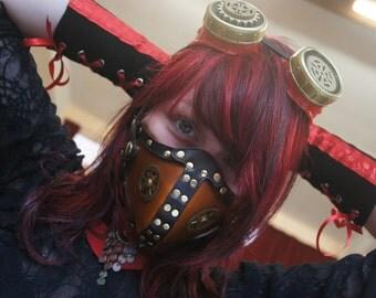 Masque en cuir Steampunk (style respiratoire)