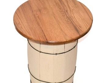 White Wine Barrel Table