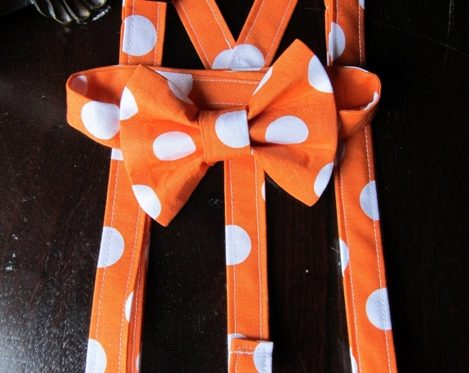 Bowtie, Suspenders, Bow Tie and Suspender Set for newborn, toddler and boys