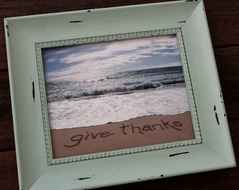 GIVE THANKS Sand Writing