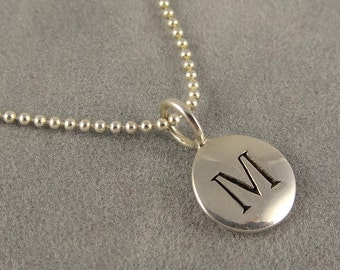 Custom Initial Necklace - Silver Personalized Necklace - Mom Necklace - Daughter Necklace - Gift for Friend