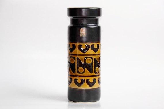 Vintage West German Vase with Motif - Dumler Breiden 1970s