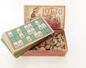 Antique Victorian Lithographed Lotto Game Bingo Childs Play