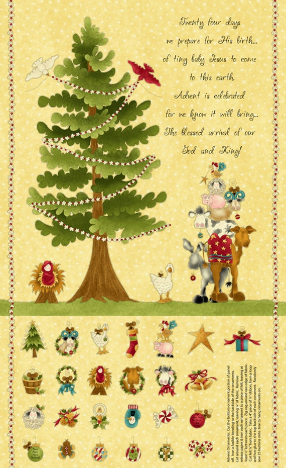 The King's Arrival  Advent Calendar Fabric Panels by Leanne Anderson of The Whole Country Caboodle for Henry Glass Co