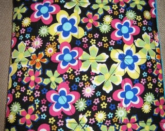 Nook Color Nook Tablet Kindle Fire Travel zippered Sleeve Bright Flowers
