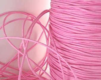 6yds Cord Waxed Cotton Pink 1.5mm String Lace Jewelry Cord Macrame String for Bracelet and Necklace